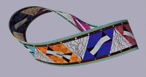 Möbiusband - acryl op papier - 182,5 x 19 cm