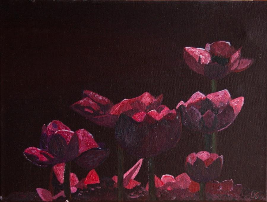 Anemonen - acryl op canvas - 40 x 30 cm