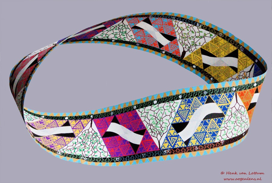 Möbiusband - acryl op papier -182,5 x 19 cm