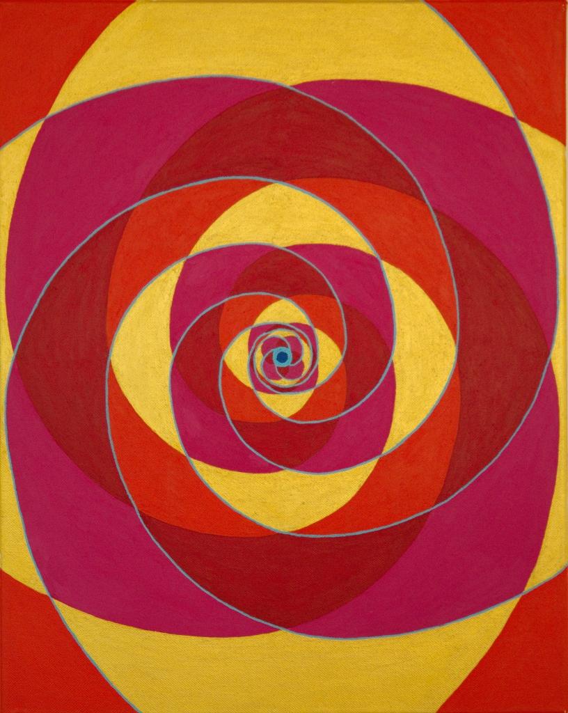 Fibonacci 2 - acryl op canvas - 60 x 40 cm