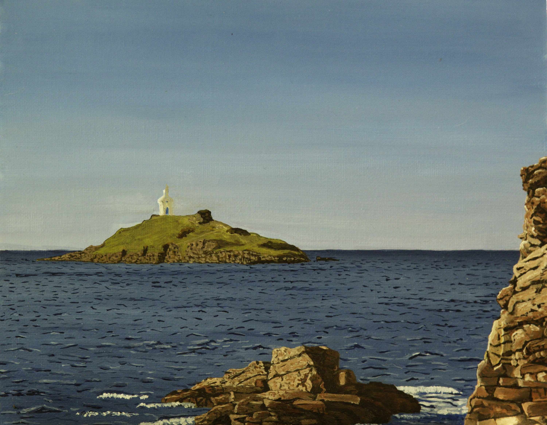 Mont st Michel (Erqy) - olieverf op board, 24 x 32 cm