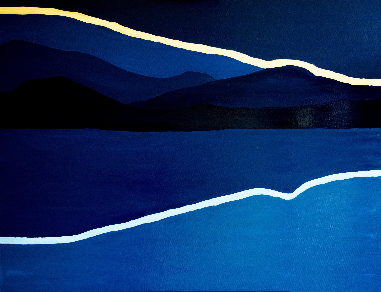 Dag breekt aan- olieverf op canvas - 120 x 100 cm