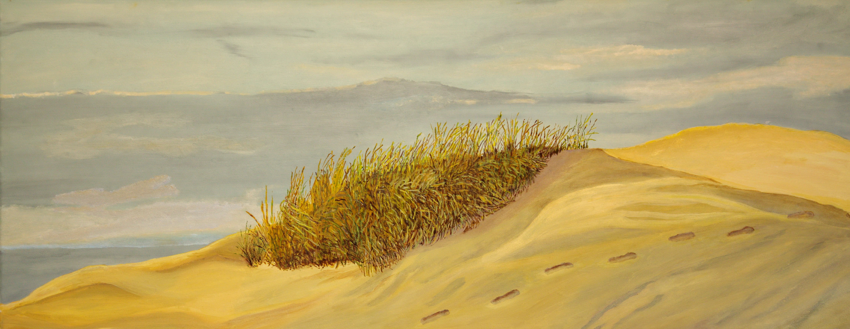 Helmgras - olieverf op canvas - 100 x 40 cm