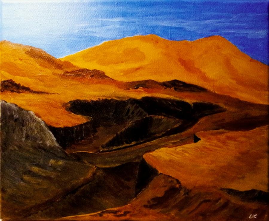 Brandende aarde - acryl op canvas - 29,5 x 25,5 cm