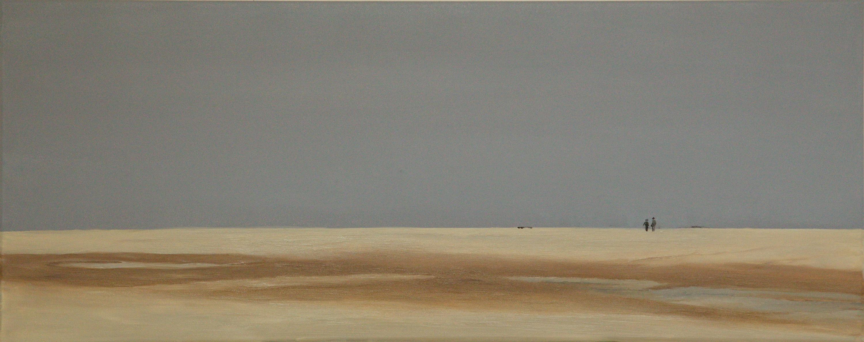 Strand Scharrendijke - olieverf op canvas - 100 x 40 cm