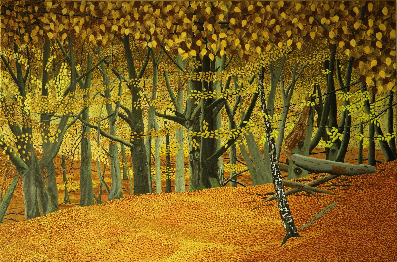 Herfst- acryl op canvas - 120 x 80 cm