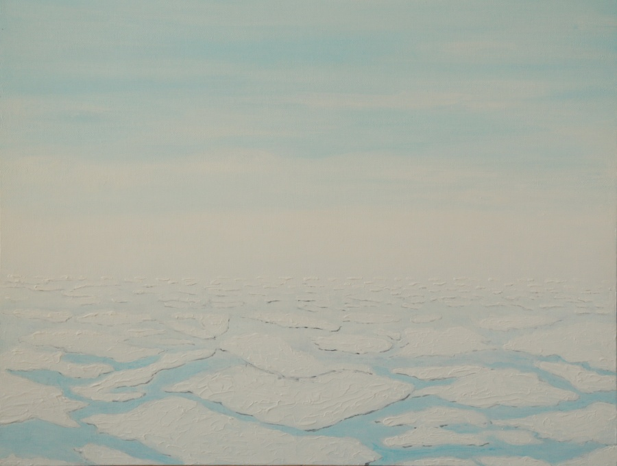 IJsschotsen - acryl op canvas board - 60 x 50 cm