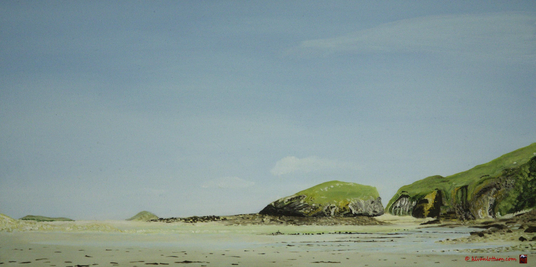 Jospinet, Bretagne olieverf op paneel 20 x 40 cm