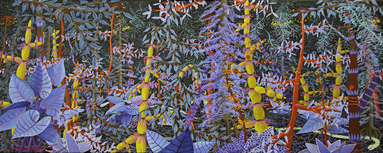 Magisch Bos II - acryl op canvas 40x100 cm