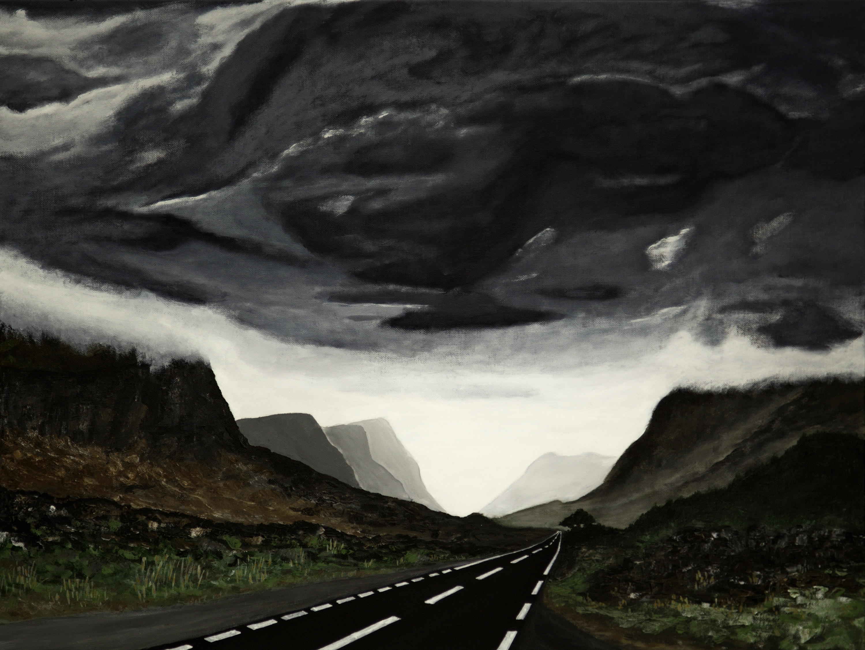 Schots landschap - acryl op canvas - 80x60 cm