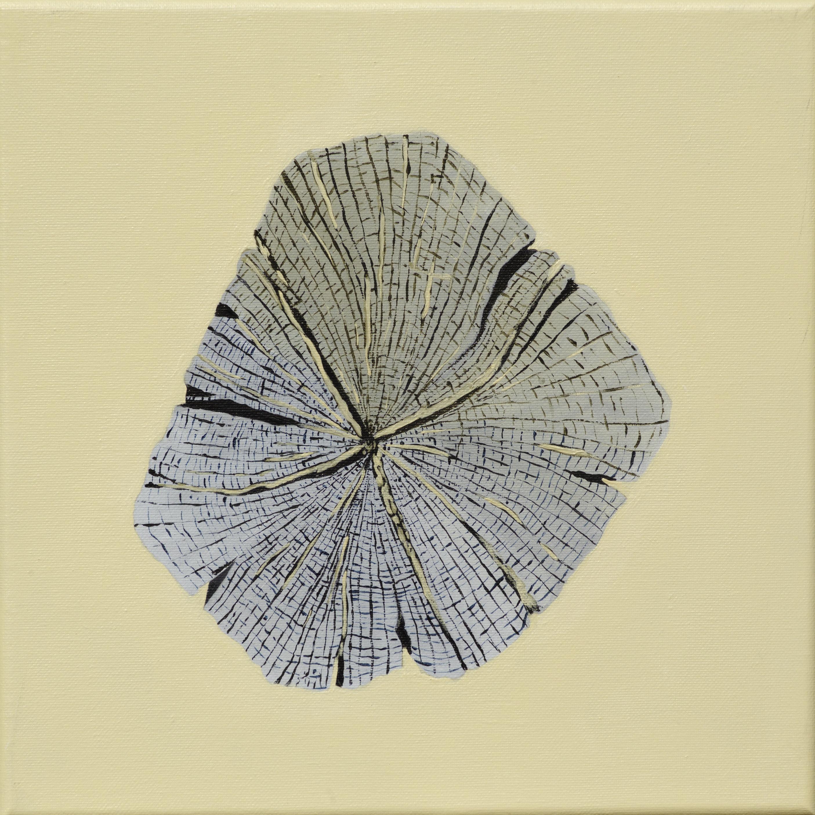Paalkop 6 - acryl op canvas - 30 x 30 cm