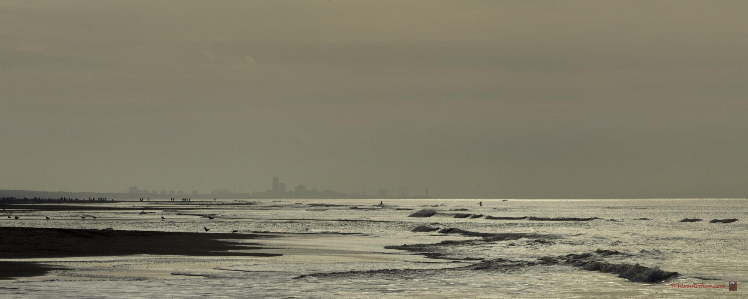 Zilveren zee - strand Noordwijk