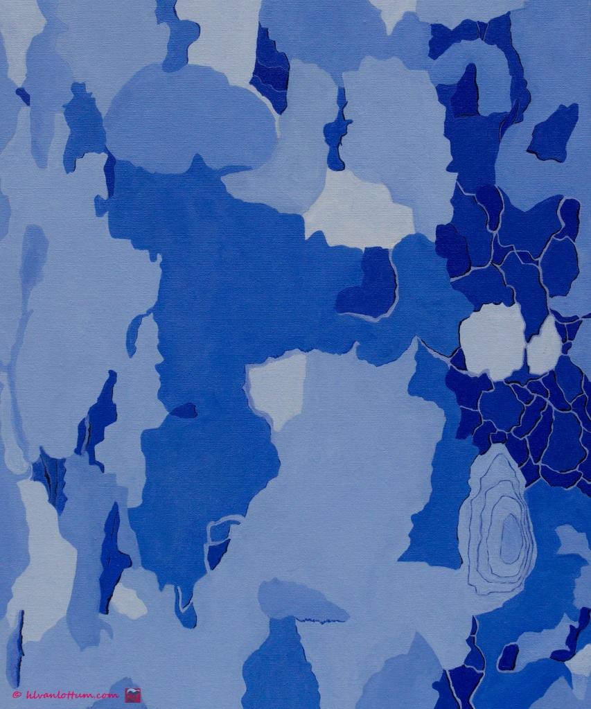 Plataan 3 - olieverf op canvas 60 x 50 cm