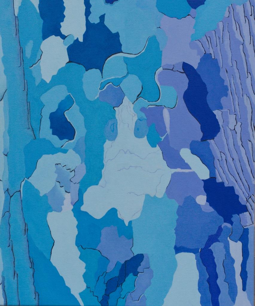 Plataan 4 - olieverf op canvas  -  50 x 60 cm