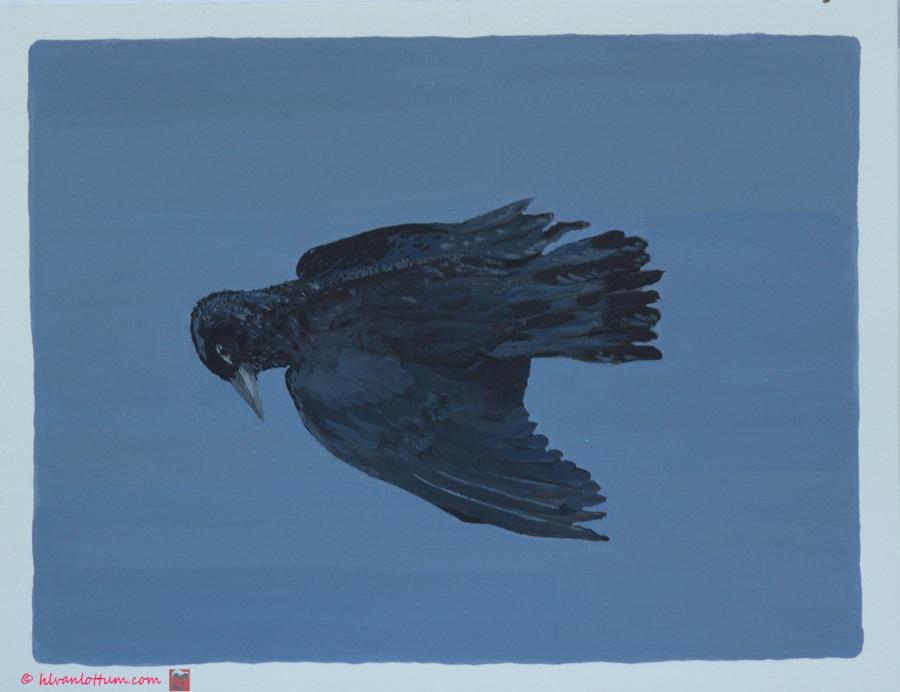 Dood - acryl op papier - 41 x 32 cm