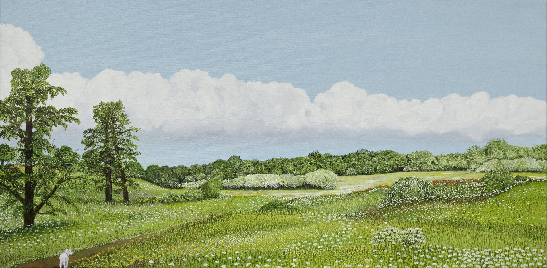 Mijn paradijs - olieverf op canvas - 60 x 120 cm