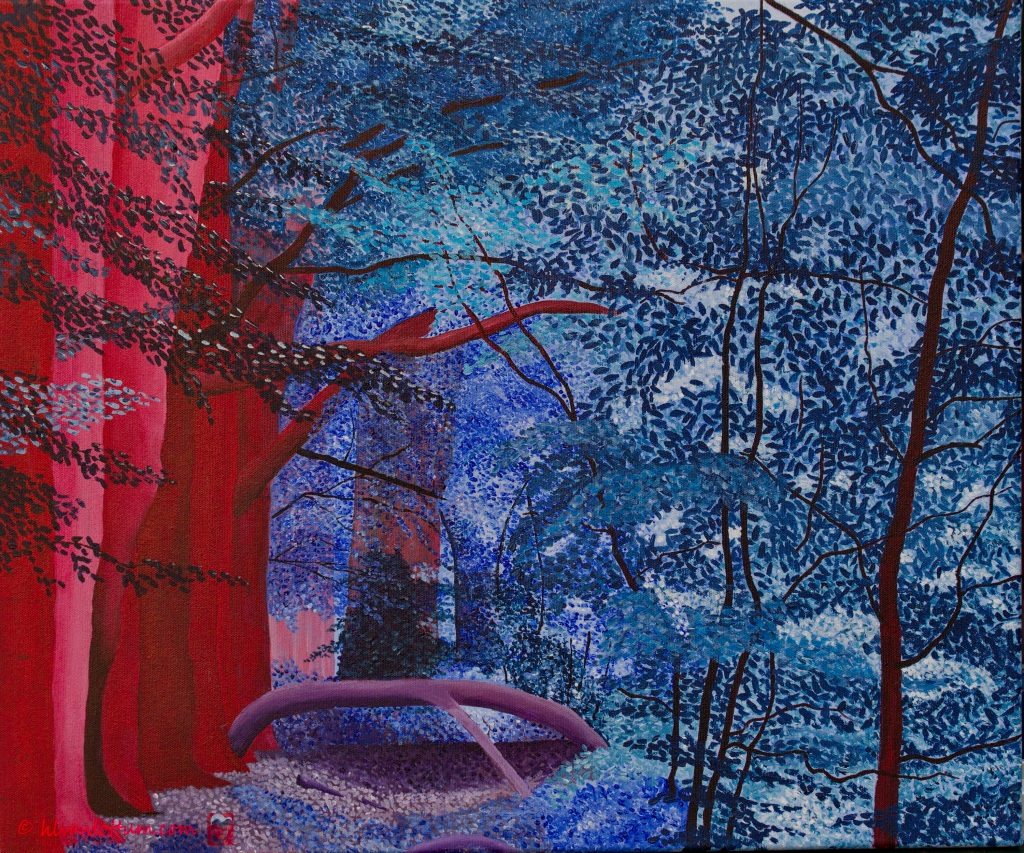 Joppe blauw rechts - acryl op canvas - 50 x 60 cm