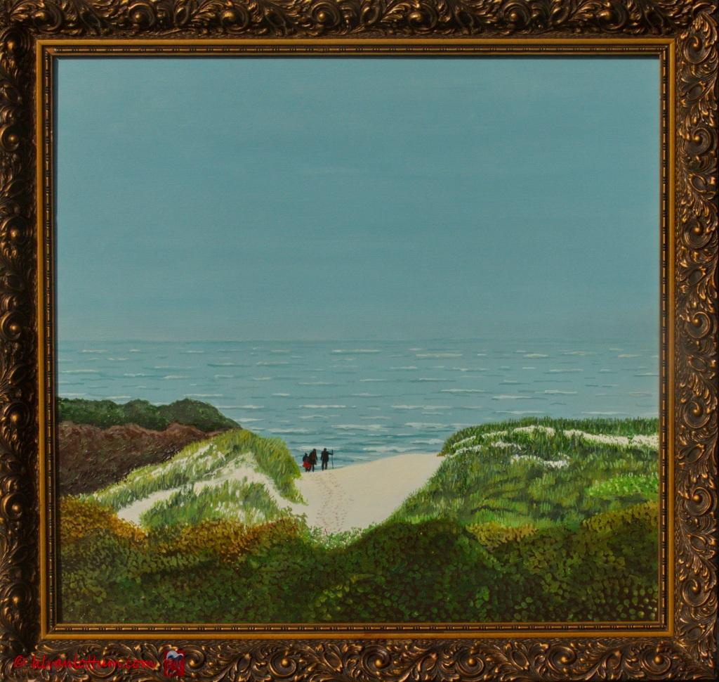 Uitzicht - olieverf op paneel - 49 x 46 cm